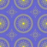 Mandala bloemenpatroon voor achtergrond of prentbriefkaar, ornament royalty-vrije stock afbeeldingen