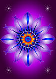 Mandala blooming flower. Symmetrically graphics forming colorful mandala stock illustration