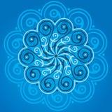 Mandala blu Fotografia Stock