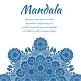 Mandala blu Fotografie Stock