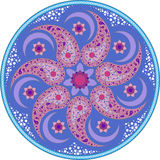 Mandala blu 1 fotografia stock