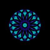 Mandala blu Immagine Stock