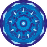 Mandala_blue Royalty Free Stock Photo
