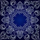 Mandala blue background stock illustration