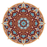 Mandala in blue and brown colors Stock Photography