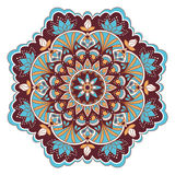 Mandala in blue and brown colors Royalty Free Stock Photo
