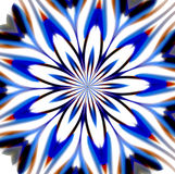Mandala blue geometric background, flowery decoration Stock Photos