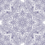 Mandala blue seamless pattern Royalty Free Stock Photography