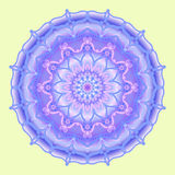 Mandala in blue tones, decorative element, vector Royalty Free Stock Photos