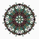 mandala Blumenverzierung des hohen Details Auch im corel abgehobenen Betrag Stockbild