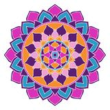 Mandala Boho Chic Pink-, Blaue und Purpurrote, orientalischeverzierung stock abbildung