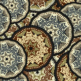 Mandala boho hand drawn seamless pattern. Vector illustration. Mandala boho hand drawn seamless pattern. Vector illustration Stock Photo