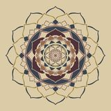 Mandala boho schicke neutrale Farbeorientalische Verzierung vektor abbildung