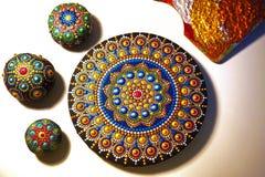 Mandala bonita pintada Fotos de Stock