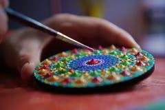 mandala bonita pintada com uma escova Imagens de Stock Royalty Free
