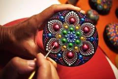 mandala bonita pintada com uma escova Imagem de Stock