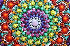 mandala bonita pintado à mão Fotos de Stock Royalty Free