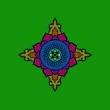 Mandala bouddhiste coloré Chiffre symbolique ethnique Images libres de droits
