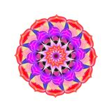 Mandala in a bright festive colors. Decorative mandala in a bright colors. The Author - Irina Peshkareva Royalty Free Stock Image