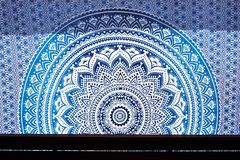 Mandala, with bright sunlight behind giving the cloth a glow royalty free stock photos