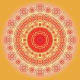 Mandala brillante de la flor Iluminación solar Imagen de archivo