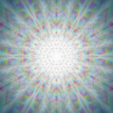 Mandala brillante mística del diente de león Imágenes de archivo libres de regalías