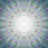 Mandala brillante mistica del dente di leone Immagini Stock Libere da Diritti