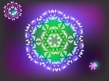 Mandala brillante su fondo Immagini Stock