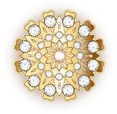Mandala brooch jewelry, design element. Tribal ethnic floral pat Stock Photo