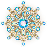 Mandala brooch jewelry, design element. Tribal ethnic floral pat Royalty Free Stock Images