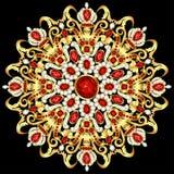 Mandala brooch jewelry, design element. Royalty Free Stock Photography