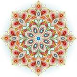 Mandala brooch jewelry, design element. Stock Photo