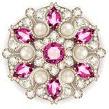 Mandala brooch jewelry, Geometric vintage ornam Stock Images
