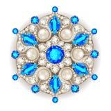 Mandala brooch jewelry,  Geometric vintage ornam Stock Photography