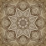 Mandala. brown circular pattern background Stock Photo