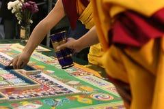 Mandala buddista tibetana Fotografie Stock Libere da Diritti