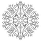 Mandala with butterflies for children. Mandala for children's entertainment and creativity Royalty Free Stock Photo