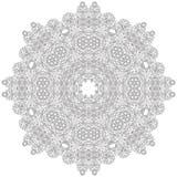 Mandala céltica del libro de colorear del estilo del nudo ilustración del vector
