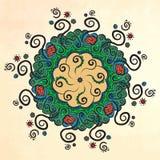 mandala Círculo ornament Imagens de Stock