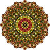 Mandala calidoscópico persa Twirl vermelho de Digitas art fotos de stock royalty free