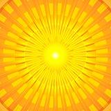 Mandala caliente ardiente de Sun del verano Ilustración del Vector