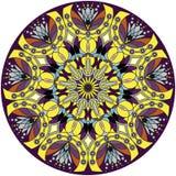 Mandala round ornament pattern. Decorative mandala, meditation poster. Vector illustration. royalty free illustration