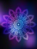 Mandala Card-Farbe vektor abbildung