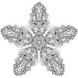 Mandala card Royalty Free Stock Image