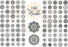 Mandala Card Set Immagine Stock