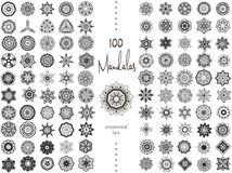 Mandala Card Set Fotografie Stock Libere da Diritti