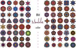 Mandala Card Set Fotografia Stock Libera da Diritti