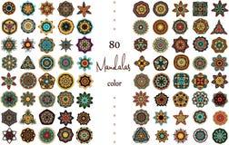 Mandala Card Set Fotografia Stock