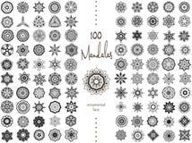 Mandala Card Set Royalty Free Stock Photos