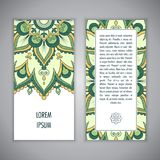 Mandala card template Royalty Free Stock Photo